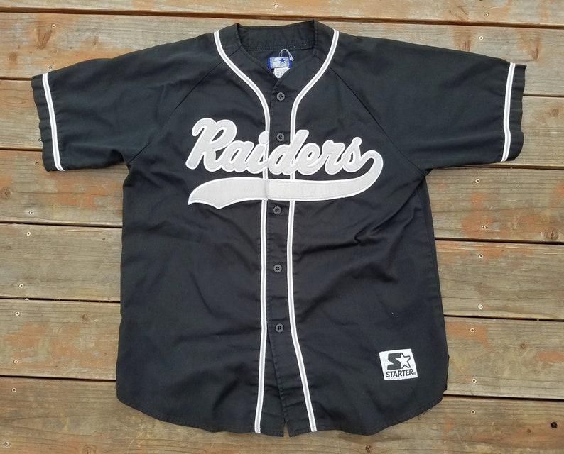 detailed pictures 85202 820cb Oakland Raiders Vintage Starter Jersey L Rare 90s Cursive NFL Los Angeles  Las Vegas