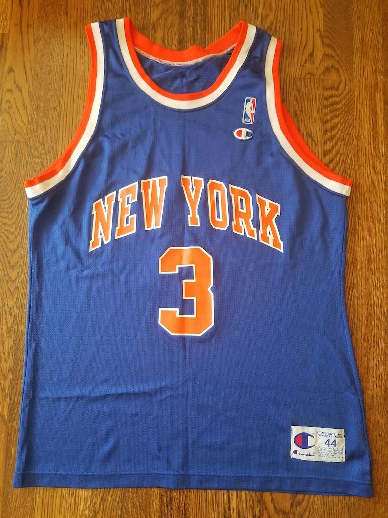 promo code 01968 def4e John Starks Vintage Champion Jersey New York Knicks 44 Rare NBA