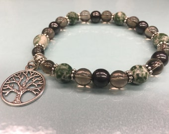 Grounding Crystal Energy/Healing Bracelet