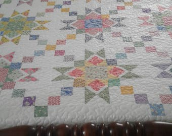 30s Reproduction Star and Flower Quilt