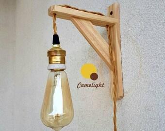 Plafoniere Da Parete In Legno : Fisarmonica lampada da parete con il legno piastra