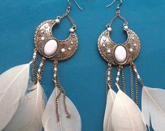 Feather Dream Catcher Earrings