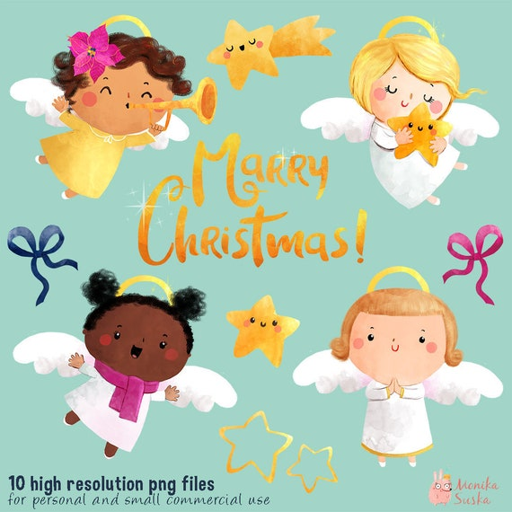 Christmas Angels Images Clip Art.Christmas Clipart Christmas Angels Clipart Commercial Use Angels Clipart Clip Art Christmas Digital Printable Watercolor Clipart
