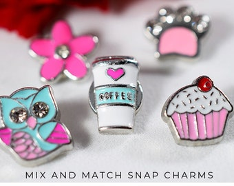 Snap Charms Personalized Gift, Charms for iPhone 7 Case, Cute iPhone 6 Case Charms, Personalized Charm Gift for Her, Charms to Personalize