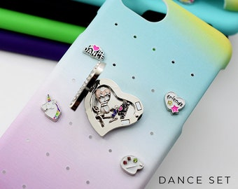 Dance iPhone 7 Case Personalized Gift, Dance Charms for iPhone 8 Case, Rainbow iPhone 6s Case Gift, Personalized iPhone Case Dance Charms