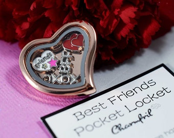 Floating Charms Locket Gift for Best Friend, Best Friend Charms for Locket, Best Friend Floating Charms, Charms Locket Best Friend Gift