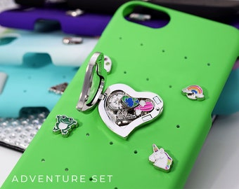 Adventure Charms iPhone 6 Case, iPhone Case Snap Charms, Charm Locket Gift for Her, Adventure iPhone 7 Case, iPhone Case with Charms Locket