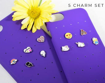 iPhone Case Charms Best Friend Gift, Charm Gift for Best Friend, Purple iPhone 7 Case, iPhone 6s Case with Charms, Best Friend iPhone Charms