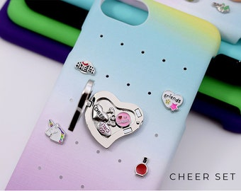 Cheering iPhone 7 Case Birthday Gift, Cheering Charms for Rainbow iPhone 8 Case, Cheering Gift for Birthday, iPhone 6s Plus Case with Charms