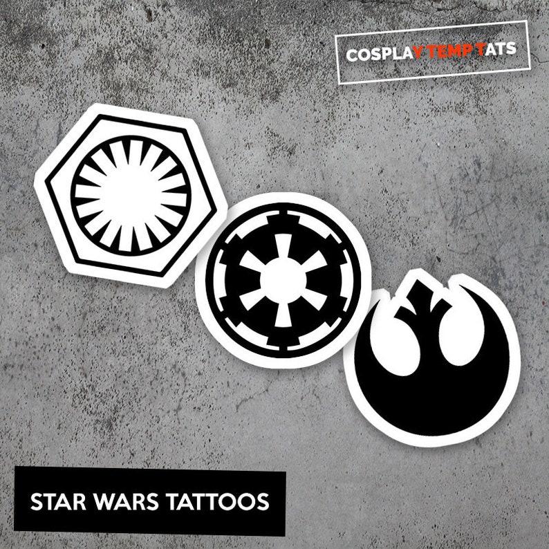 b031ea7cd Star Wars Temporary Tattoo Temp Tat Rebel Alliance Empire | Etsy