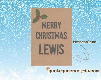 Individuelle Weihnachtskarten.Individuelle Weihnachtskarten Etsy