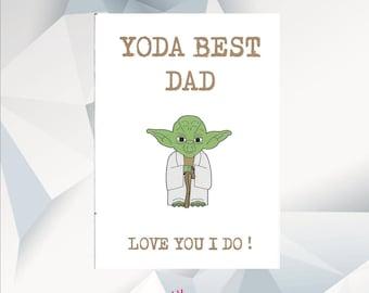 Yoda Birthday Card Etsy