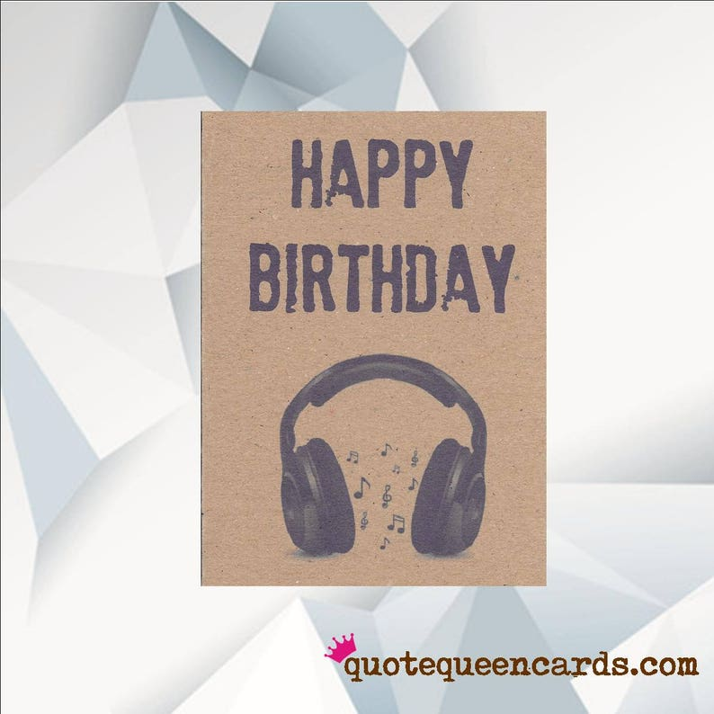 HAPPY BIRTHDAY HEADPHONE Music Birthday Card