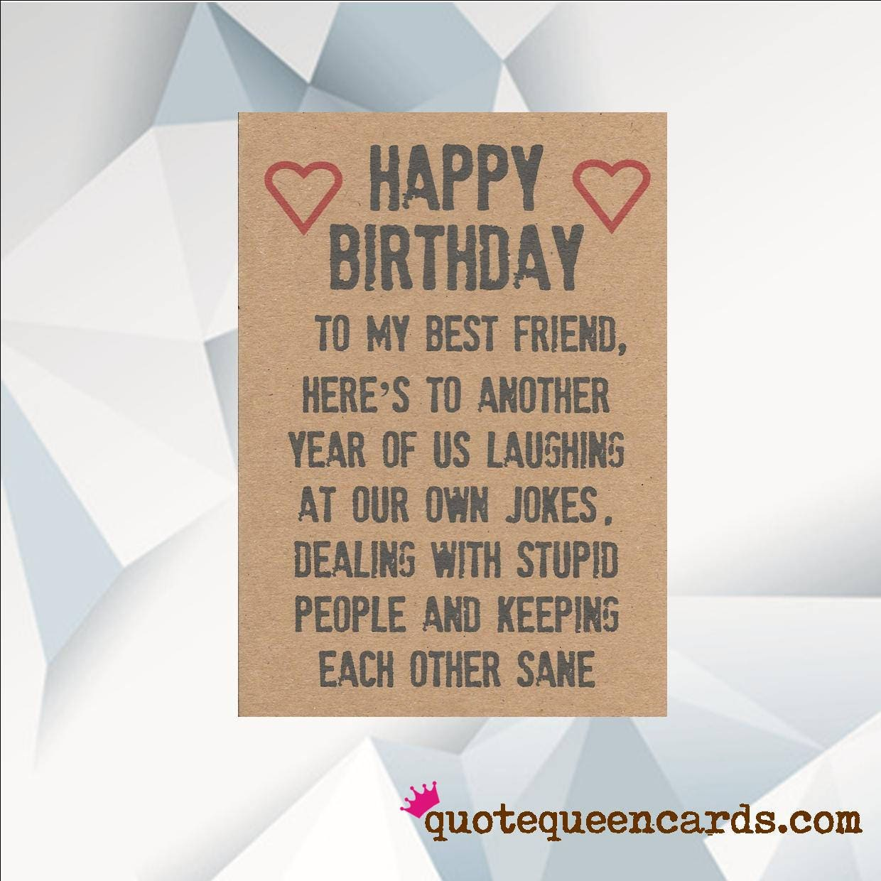 Happy Birthday BEST FRIEND Funny Card For Friend