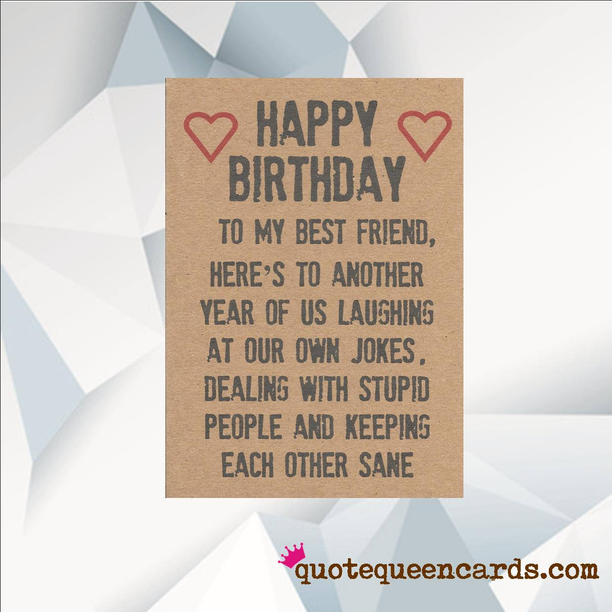 happy birthday best friend funny birthday card for friend etsy