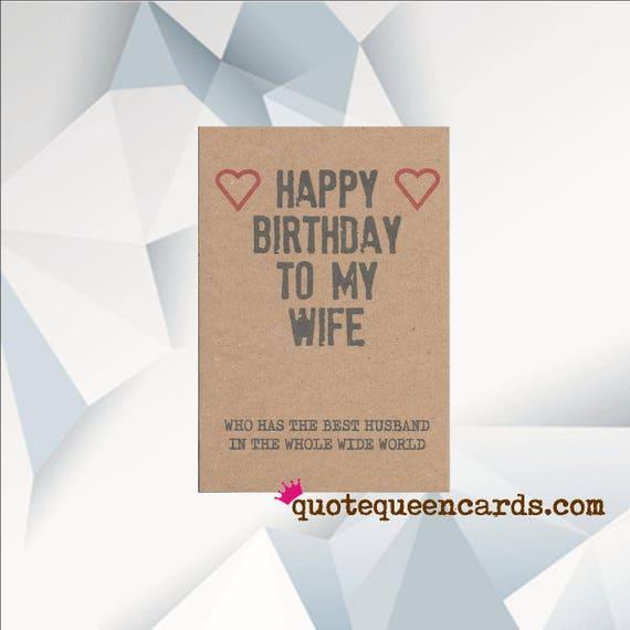 Funny Wife Birthday Card Funny Birthday Card Funny Card Etsy