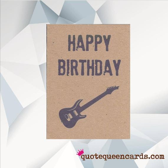 HAPPY BIRTHDAY GUITAR Music Birthday Card Guitar