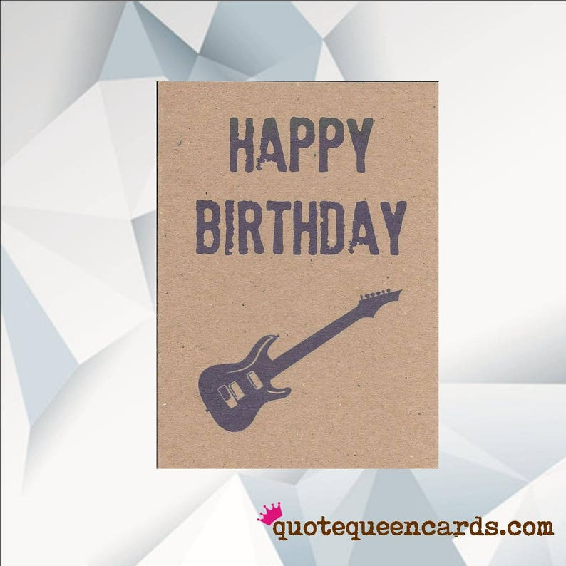 HAPPY BIRTHDAY GUITAR Music Birthday Card Guitar Electric Design
