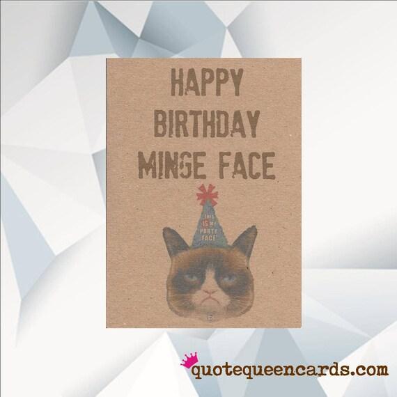 Geburtstag Minge Gesicht Murrische Katze Lustige Geburtstag Etsy