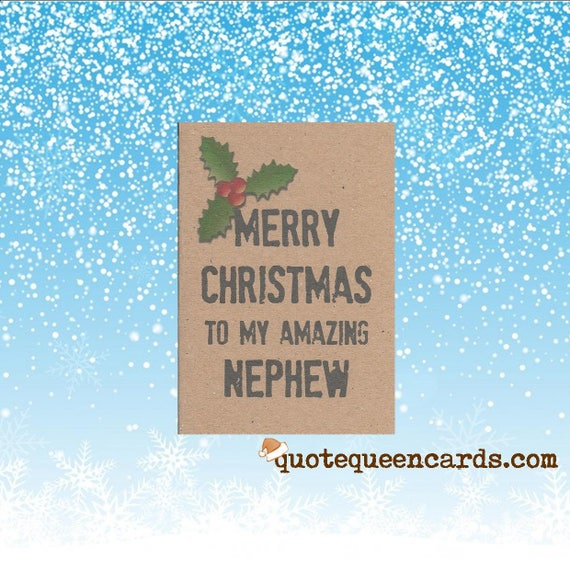 Merry Christmas Nephew.Christmas Card For Niece Merry Christmas To My Amazing Niece Handmade Uk Seller