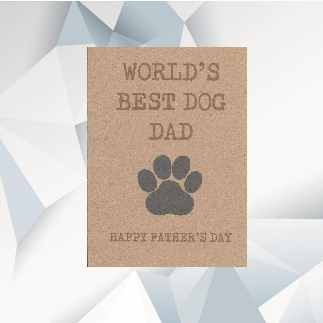 Worlds Best Dog Dad Happy Fathers Day Card Etsy