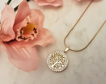 tree of life, tree-of-life, tree of life necklace, family tree, gift for her, gift for mum, family tree necklace, tree of life pendant