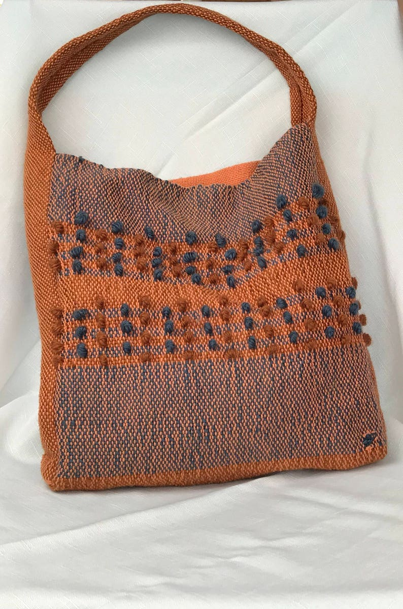 Textured earth tone market bag or tote