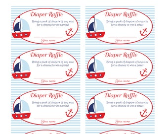 Nautica Diaper Raffle Tickets