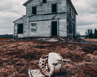 Abandoned Farm House Decay Photography Digital Download Wall Art