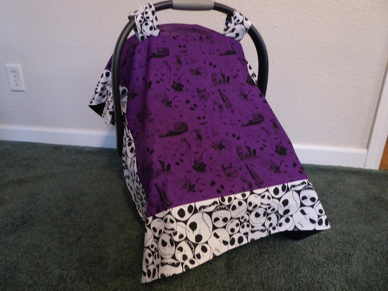 Nightmare Before Christmas Baby Car Seat Canopy Cover And Or Etsy