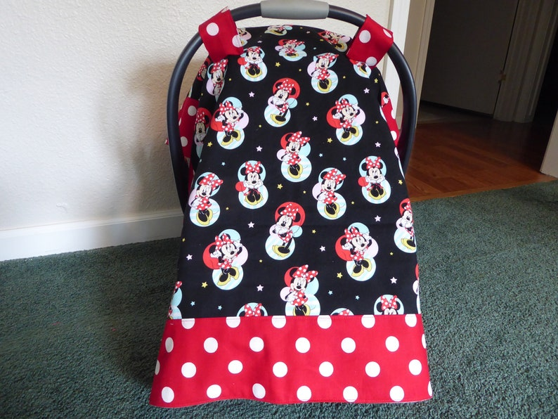 9e4746f3f MINNIE MOUSE baby car seat canopy-cover and or blanket also in | Etsy