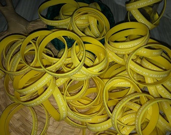 Childhood cancer bracelets! 100% of procedes go to childhood cancer research!