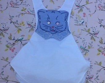 Handmade Baby Romper With Hand Embroidery