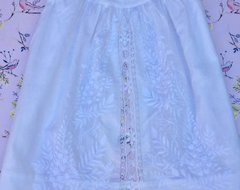 Baby Girls Antique Lace Pinafore Dress