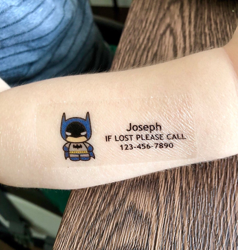 Child Safety Temporary Tattoos / If Lost Please Call / | Etsy