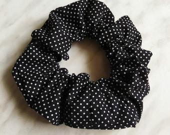 Polka dots, scrunchies, elastic scrunchie, hair accessory hair tie