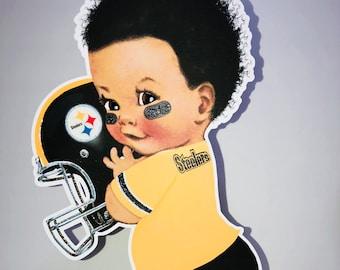 54f50074561 Steelers Baby Football Player, Steelers Centerpiece, Baby Shower, Gender  Reveal, Birthday Party, Kids Birthday
