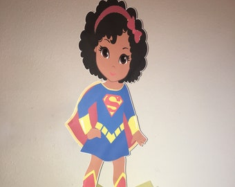 Supergirl, Centerpiece, Birthday, Baby Shower, Party