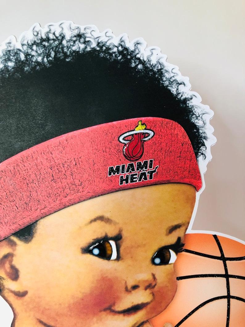 boy baby shower baby shower kids birthday party birthday party Miami Basketball baby centerpiece kids centerpiece