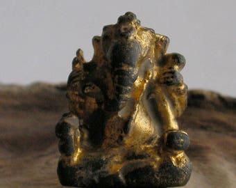 Old Lord Ganesh Ganesha Elephant Yoga Meditation Hindu Deity India Lucky Buddha Amulet