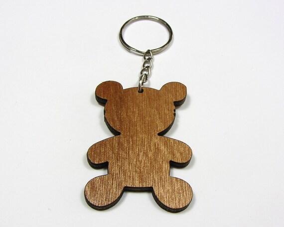Ours de mama en bois ours en peluche porte-clé, porte-bonheur, cadeau, personnalisé maman Gif, bébé ours porte-clé, porte clé Animal, animaux de zoo, cadeau de bébé