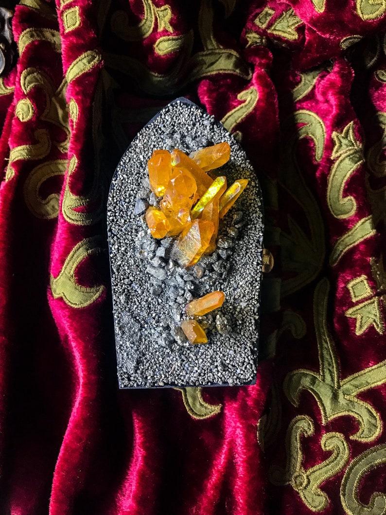Coffin Box Jewelry Box * Coffin Crystallized Coffin Box Amethyst Wood box Stash Box