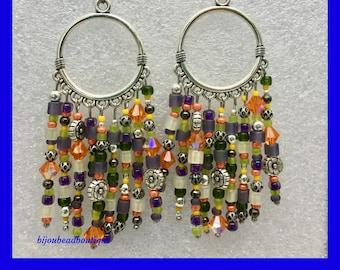 Fiesta Chandelier Earrings / Modern Hippie / Urban Gypsy / Boho Earrings / One of a Kind / Southwest Fashion / Bohemian Earrings / Unique