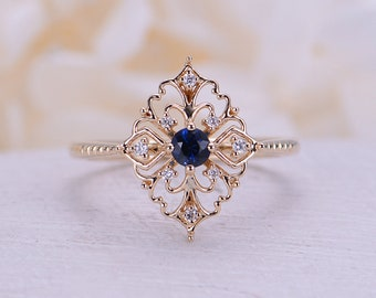 Art Deco Wedding Rings | Art Deco Engagement Ring Etsy