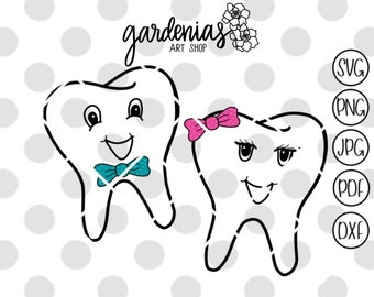 Teeth SVG, Tooth svg, Tooth Fairy svg, Tooth Fairy Pillow svg, tooth fairy bag svg, tooth faces svg, girl tooth svg, boy tooth svg