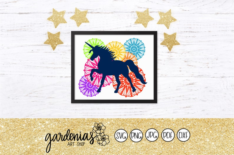 Unicorn Mandala svg, Unicorn Mandala Background, Unicorn Design, Unicorn  svg, Unicorn Silhouette, Unicorn svg Outline, Unicorn Cutting File