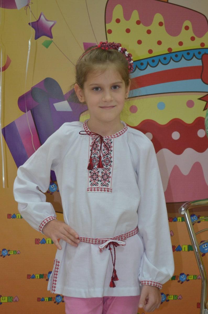 Embroidered shirt + BONUS Free postcard Vyshyvanka Tunic for girls Blouse  Dress Ukrainian Handmade Embroidered patterns