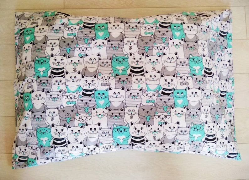 Queen King cat bed sheet cat cot bed crib bedding bedding set pink gray red cats baby toddler adult Red cats pillowcases sheet for kids