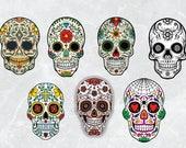Sugar skulls SVG file sugar skull clipart mexican skull sugar skull vector digital printable instant download