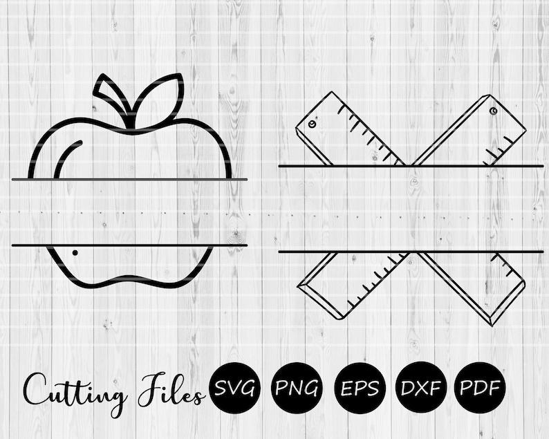 Teacher appreciation Cricut   Cricut Commercial Use Silhouette Teacher Monogram Printable Vector SVG Cutting file